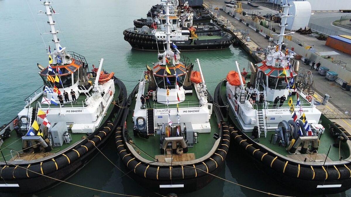 Fratelli Neri named three Damen RSD 2513 tugs in Livorno, Italy (source: Damen)