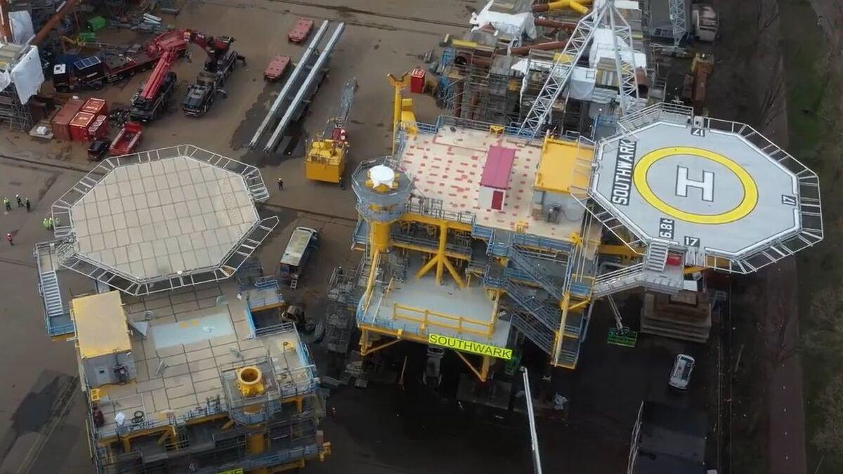 Blythe and Southwark platforms were built in a Netherlands yard during Q1 2021 (source: IOG)