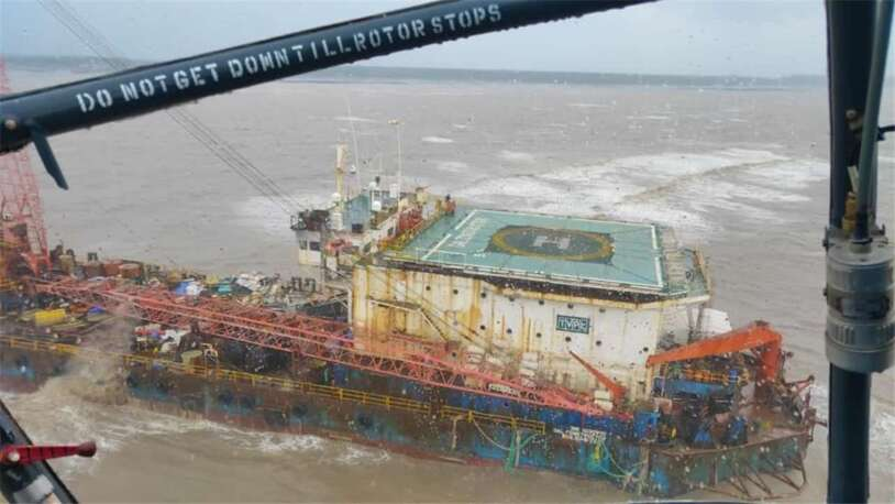 Cyclone crashes through Indian offshore sector, 74 seafarers missing