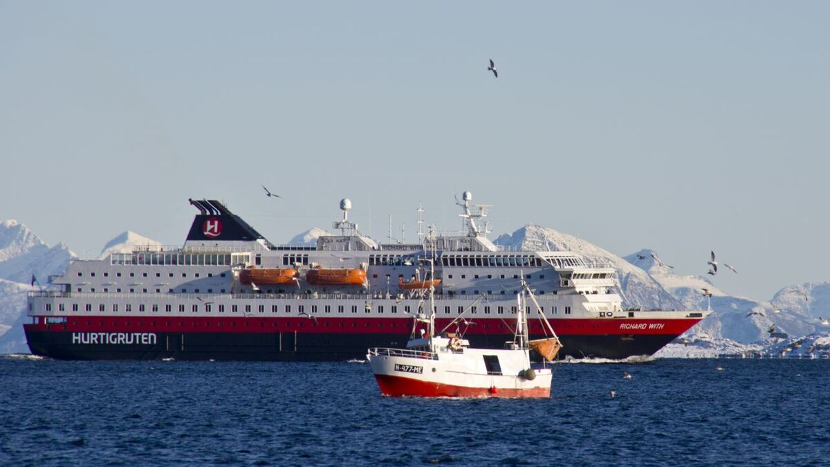 Richard With is one of the three vessels being converted (source: Hurtigruten Norge)