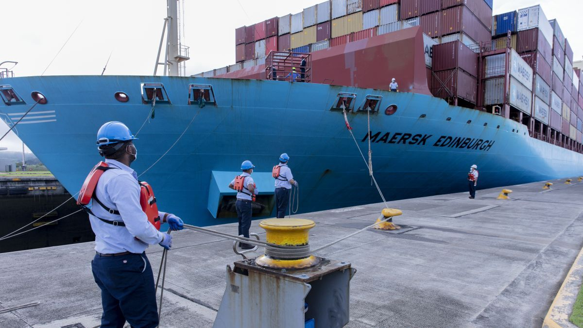 Maersk is still the largest global container carrier with a current fleet of 4.1M TEU (source: Panama Canal Authority)
