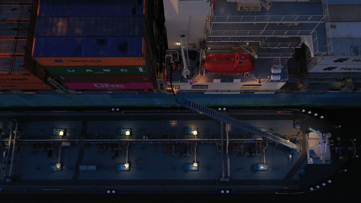 ONE has completed a second biofuel trial on board Panamax box shipMOL Experience (source: ONE)