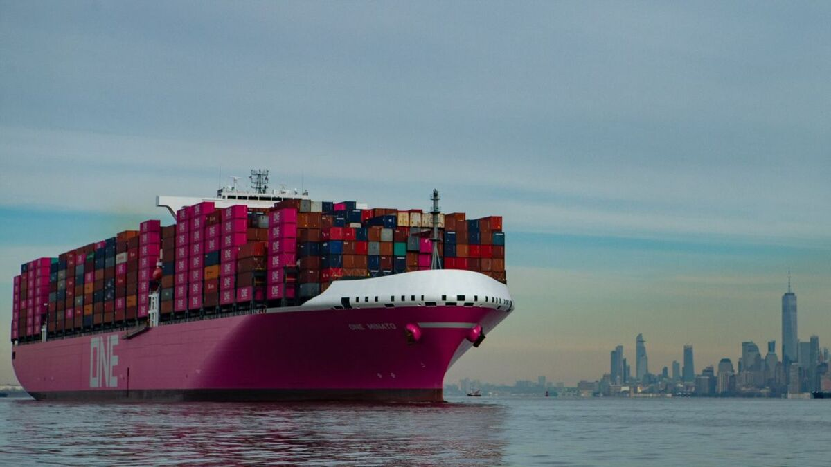 ONE Minato container ship uses StormGeo route planning software (source: ONE)