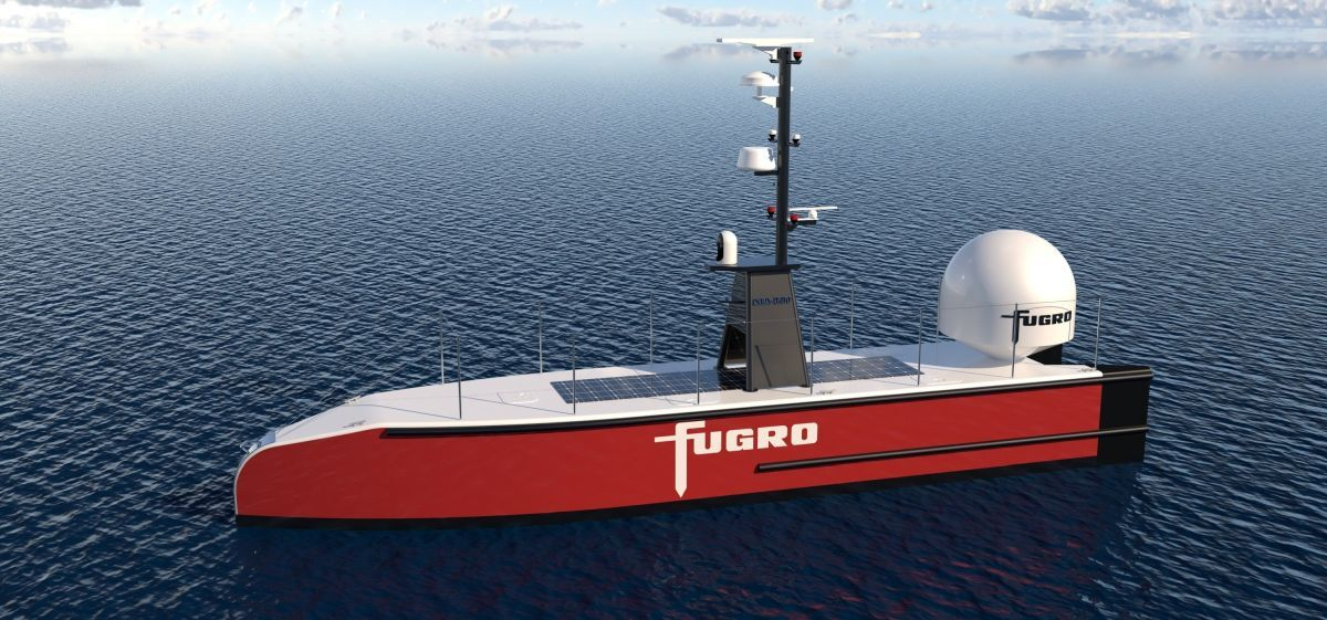 Autonomous surface vessels such as Fugro's have been made possible by a rapid increase in processing power, evolution of sensor technology, long-range communications and new types of propulsion (source: Fugro)