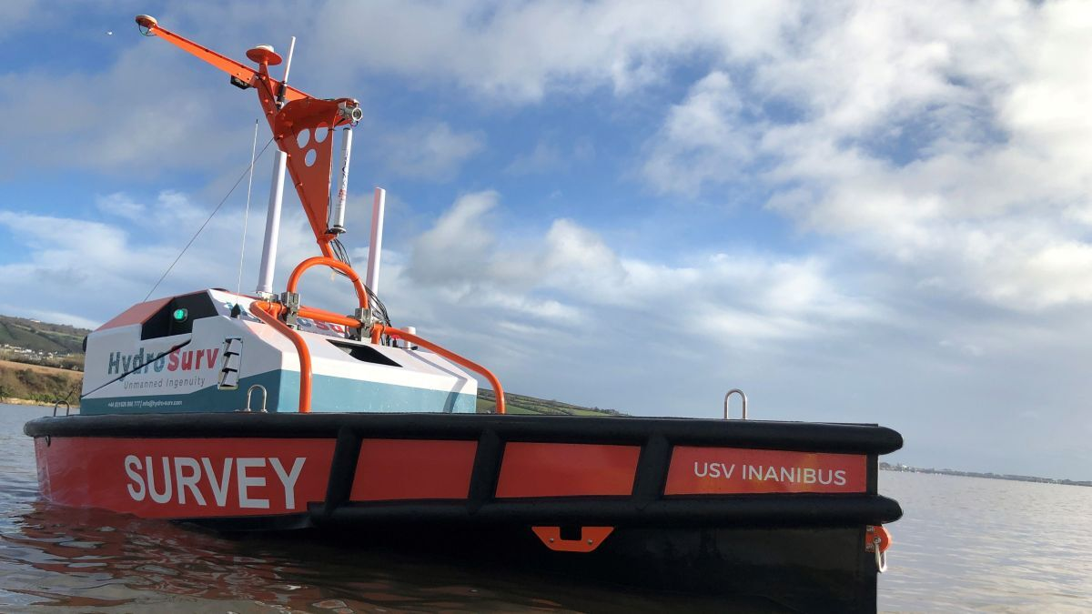 HydroSurv's autonomous vessels can deploy a range of sensors and task-orientated payloads for survey and inspection projects (source: HydroSurv)