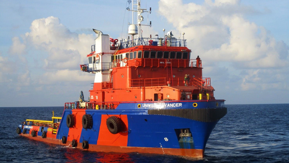 AHTS Uniwise Advancer is one of three MEO vessels working offshore Cambodia (source: Miclyn Energy Offshore)