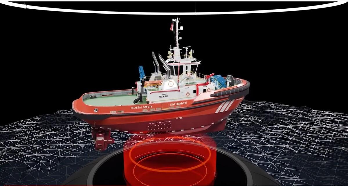 UZMAR Shipyard Rescue-13 Tugboat built for Coastal Safety General Directorate