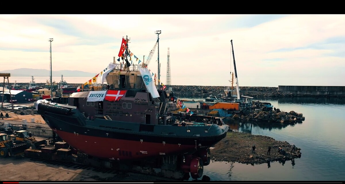 Med Marine Successfully Launched Svitzer's 30 m Tugboat
