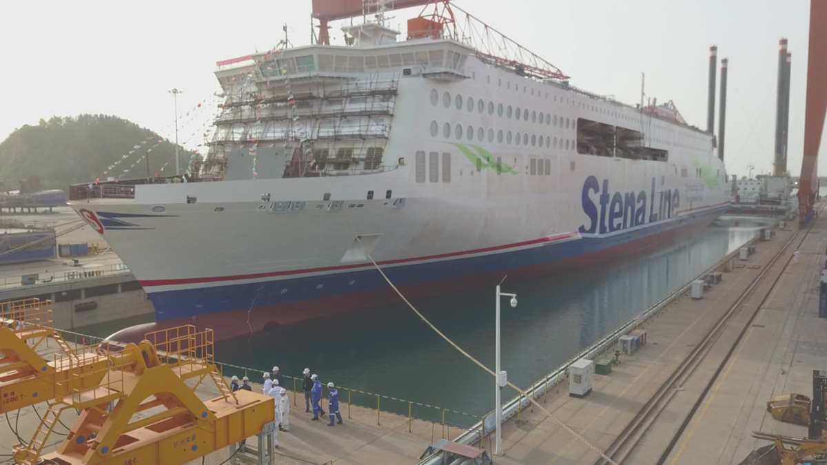 Stena Line floats out fourth E-Flexer ferry in China
