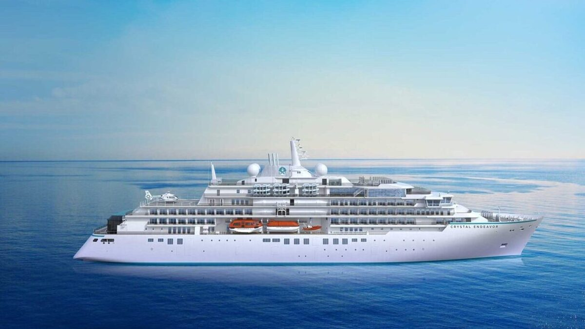 Crystal Endeavor completed its final sea trial ahead of the ship's first voyage (source: Crystal Cruises)