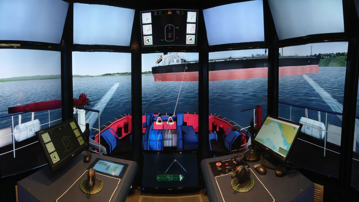 A Rotortug simulation model was installed at CMS in Tasmania (source: AMC)