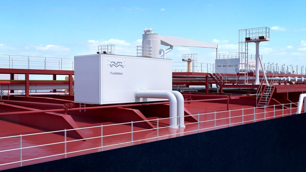 BWMS deckhouse: It may look like a container, but it is substantially stronger (source: Alfa Laval)
