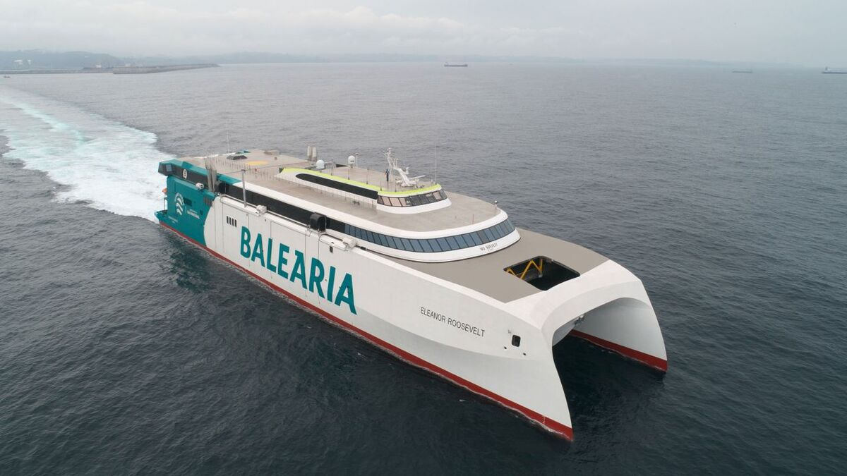 Baleària's LNG-powered fast ferry enters service