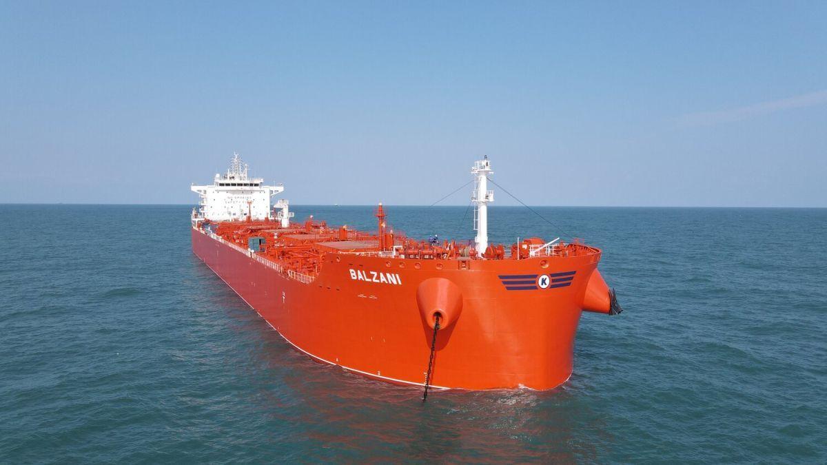 Balzani marks the last in the eight-vessel CLEANBU series for KCC (source: KCC)