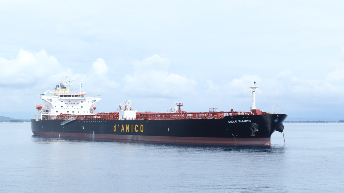 Trials will be conducted on the vessel Cielo Bianco (Source: d'Amico Group)