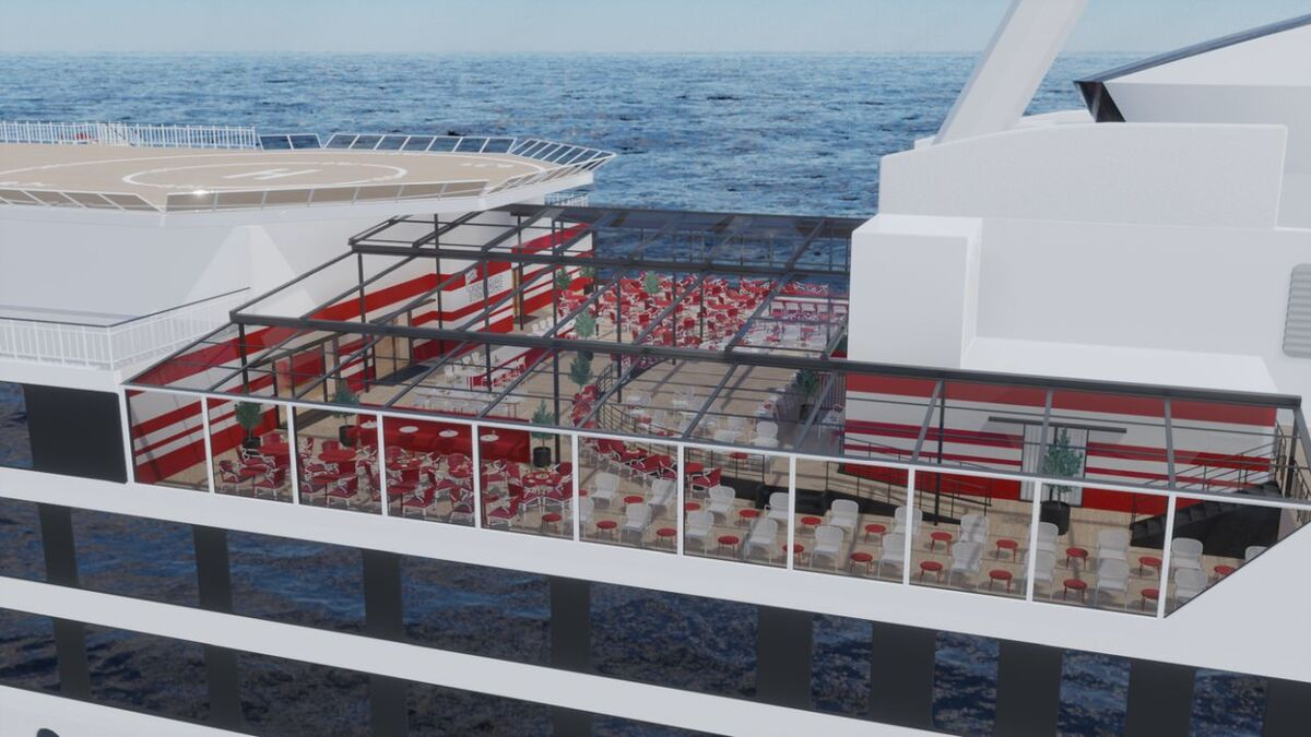 Viking Terrace is a flexible combination of restaurant and rooftop bar (source: Viking Line)