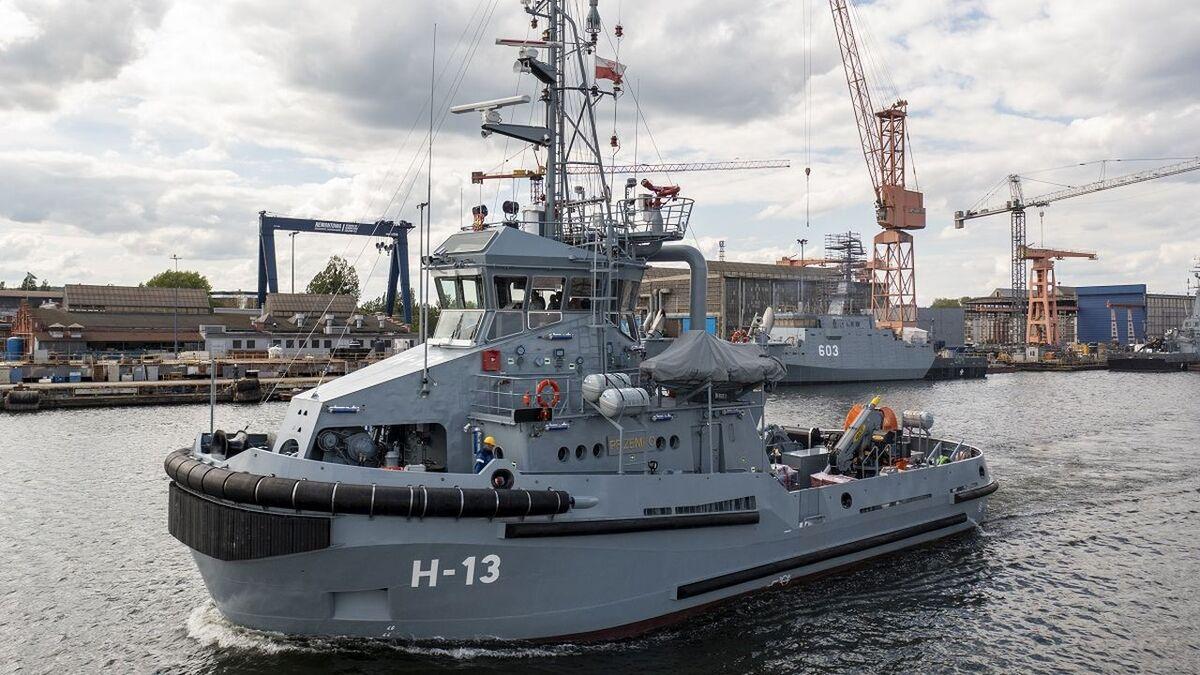 H-13 Przemko tug was built for the Polish Navy by Remontowa (source: Remontowa)