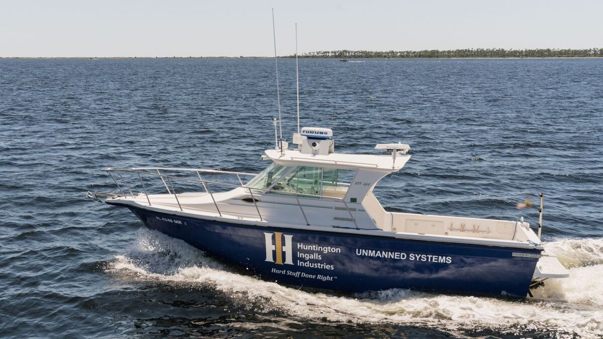 Huntington's Proteus USV with Sea Machines SM300 for collision avoidance (source: SM)