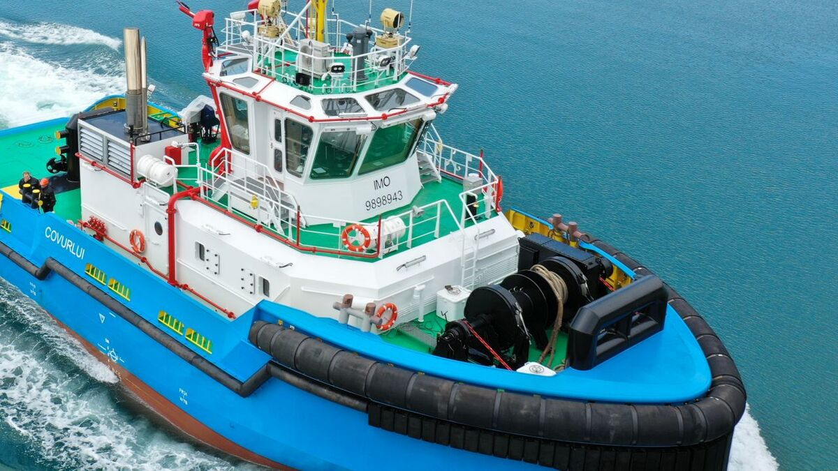 Med Marine built Covurlui to a MED-A3055 ice-class tugboat for AFDJ (source: Med Marine)