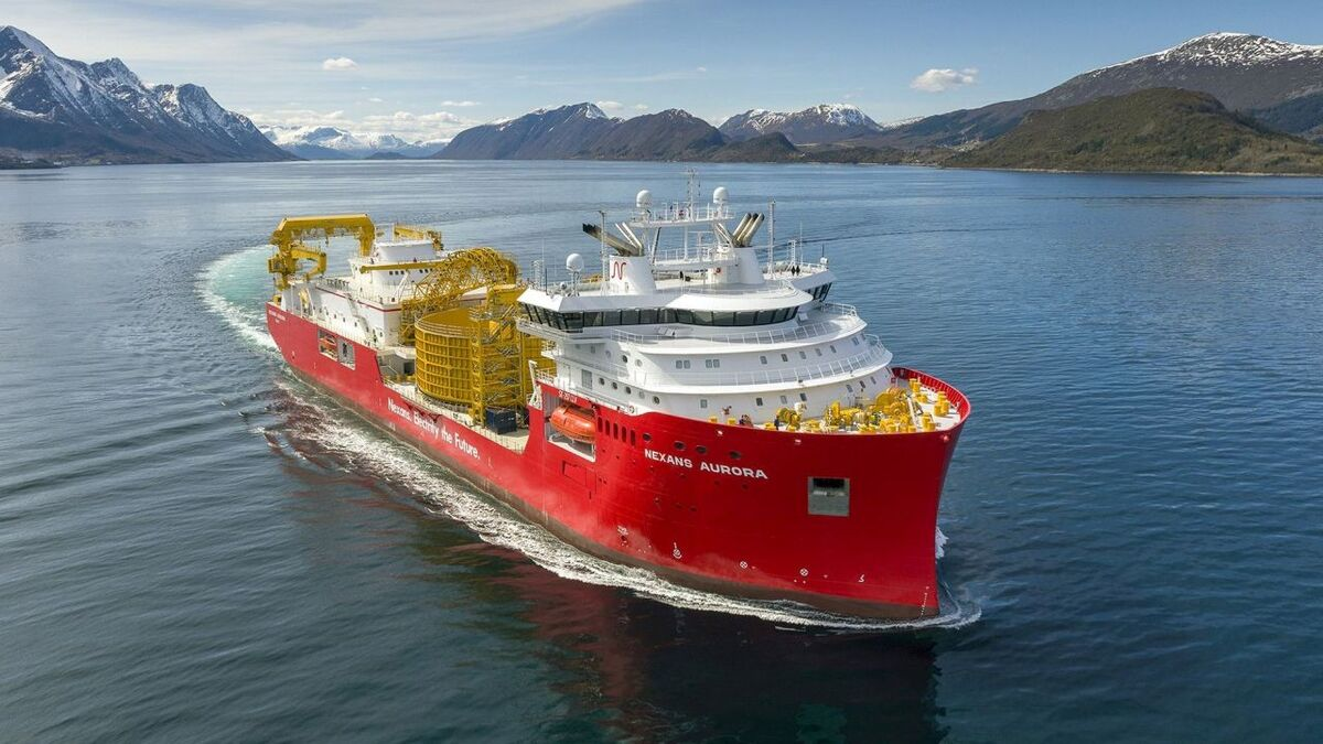 Cable-lay vessel Nexans Aurora delivered