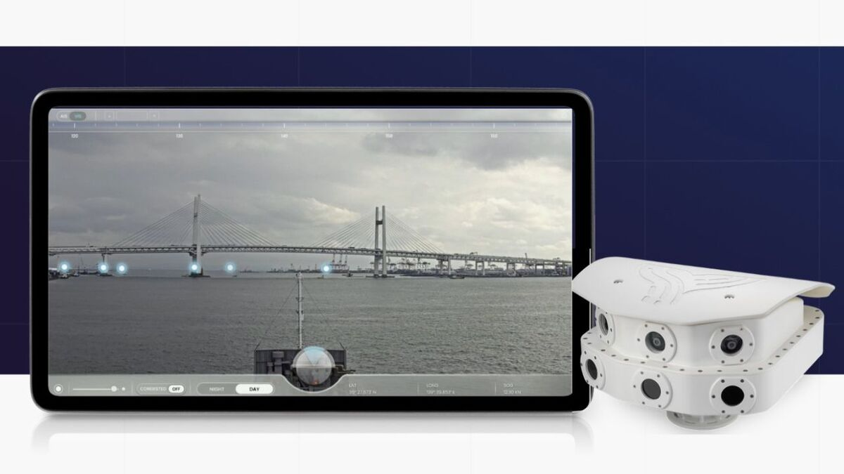 The Orca AI platform includes navigation screen, thermal and HD cameras (source: Orca)