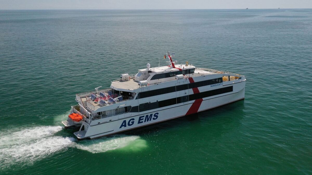 Nordlicht will be operated on routes including the North Sea-islands Borkum and Helgoland (source: Incat Crowther)