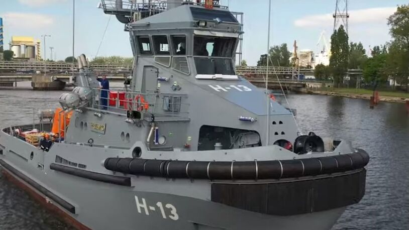 Video: Remontowa Shipbuilding delivers final naval tug in newbuild series