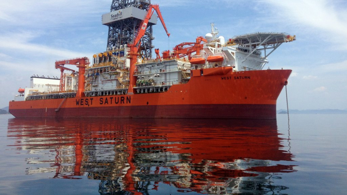 Seadrill's sixth-generation drill ship West Saturn has been contracted for four years to support Bacalhau field development (source: Seadrill)