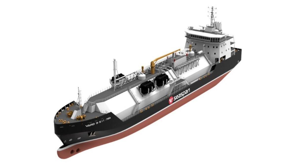SeaspanLNG's 7,600-m3 LNG bunker vessel will be 'future-proof' with the ability to incorporate emerging technologies (source: Seaspan)