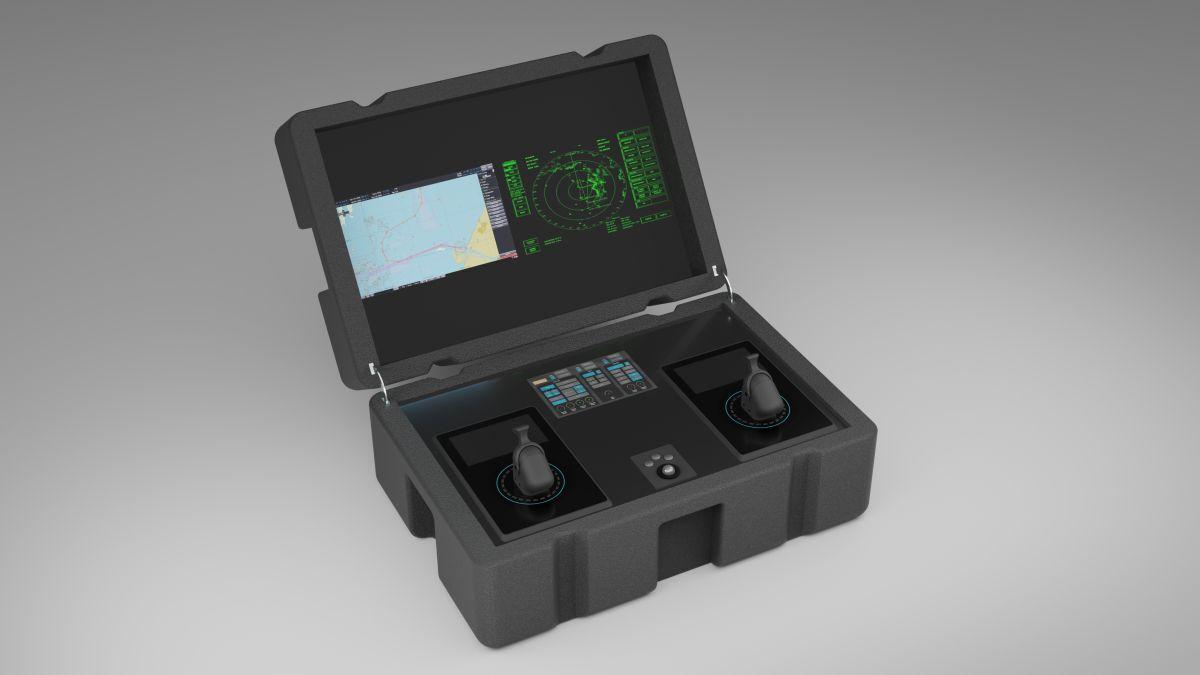 VStep's portable vessel-handling simulator in a case (source: VStep)