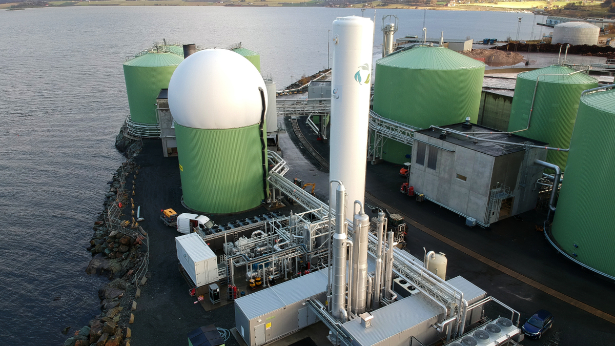 Biokraft's bioLNG facility will increase its capacity to 50 tonnes per day (source: Wärtsilä)