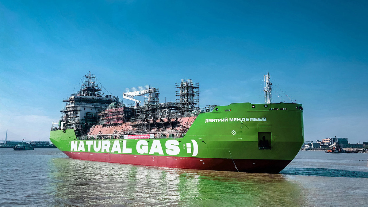 Russia's first LNG bunker barge completes sea trial