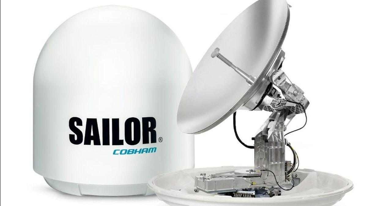 Cobham Satcom XTR VSAT antenna links to GEO, MEO and LEO satellites (source: Cobham)