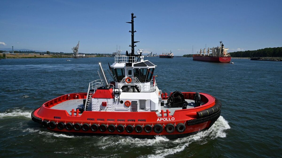 Diversified built tug Apollo for Crowley with 94 tonnes of bollard pull (source: Diversified)