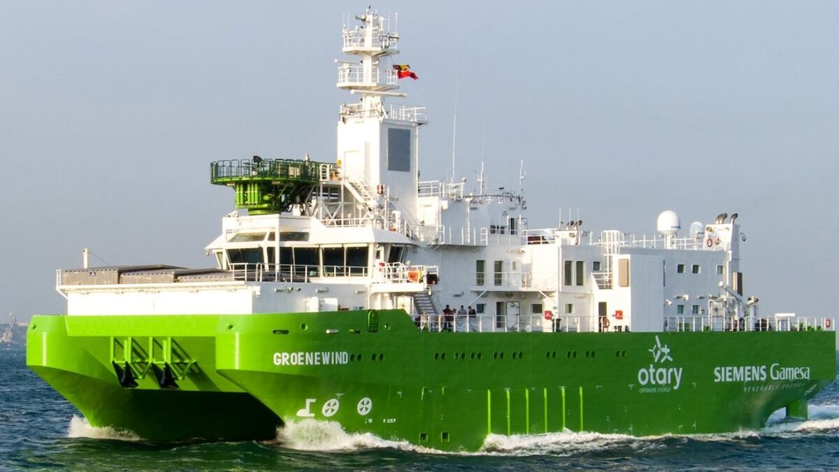 DEME says Groenewind's hullform will reduce the effect on the vessel of wave impacts when approaching wind turbines