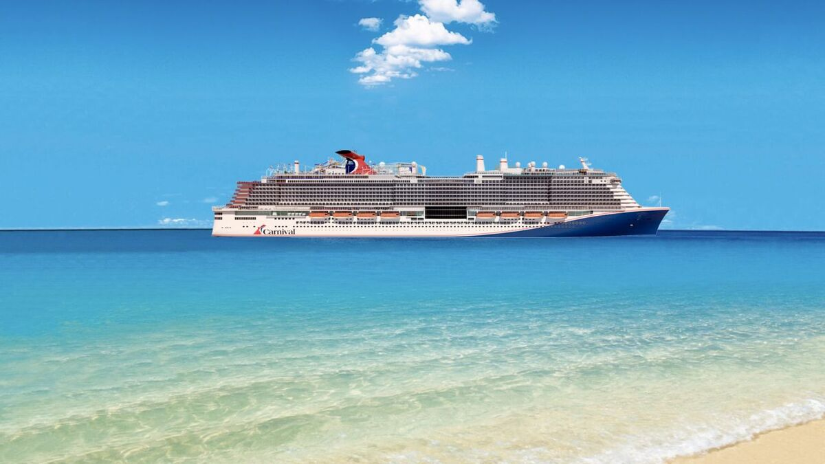 Carnival Cruise Line will take delivery of an Excel-class cruise ship (pictured is a rendering) source: CCL