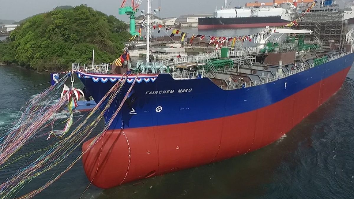 Fairchem Mako was delivered to Fairfield by Fukuoka Shipbuilding in 2018 (source: Fairfield)