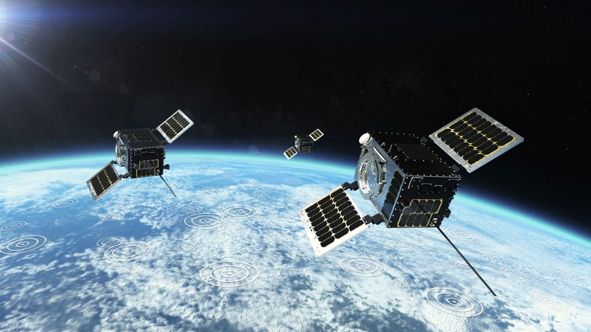 HawkEye 360's second cluster satellites detect RF and radar from ships (source: HawkEye 360)