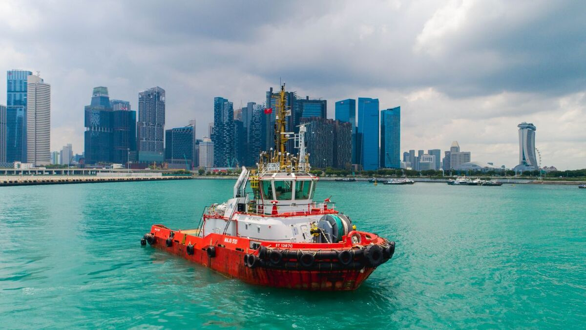 Keppel Smit Towage Maju 510 tug in the Port of Singapore (source: ABB)