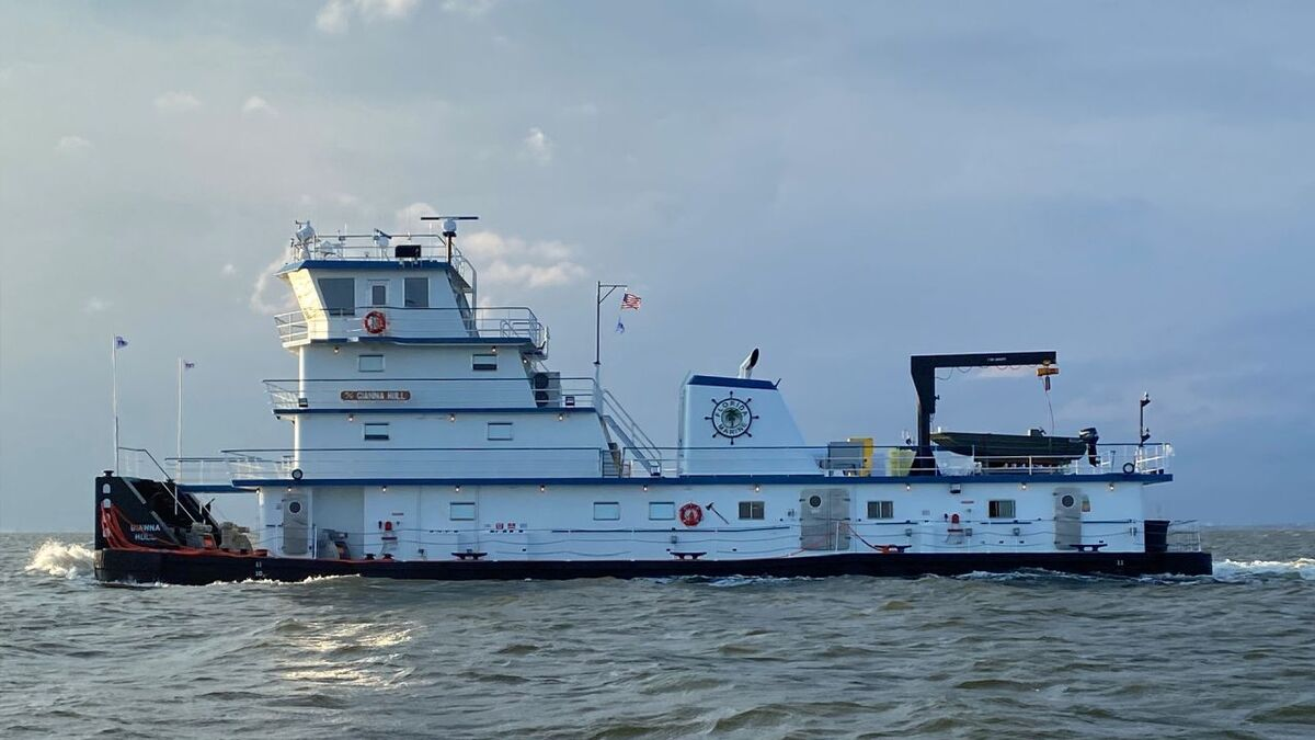 Metal Shark Alabama delivered Gianna Hull, a third inland towboat, to FMT (source: Metal Shark)