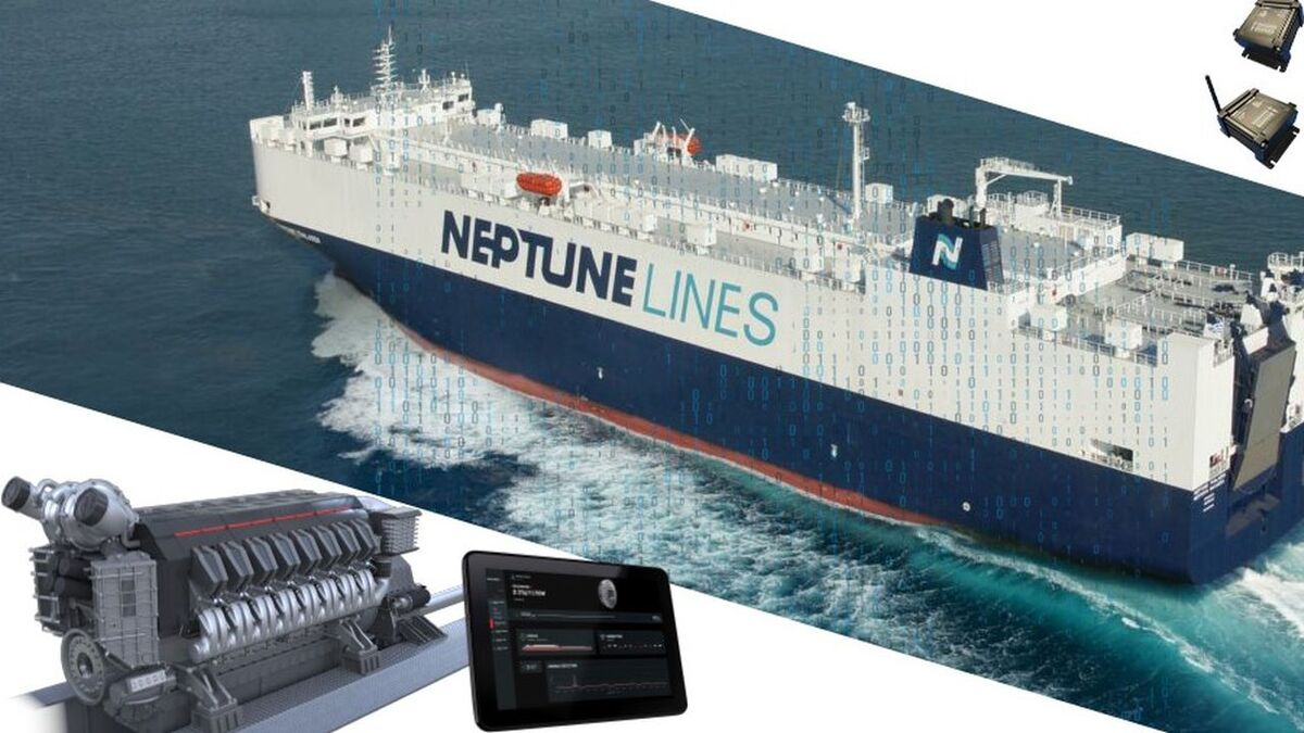 Metis and Geislinger monitor performance of powertrain on a Neptune car carrier (source: Metis)