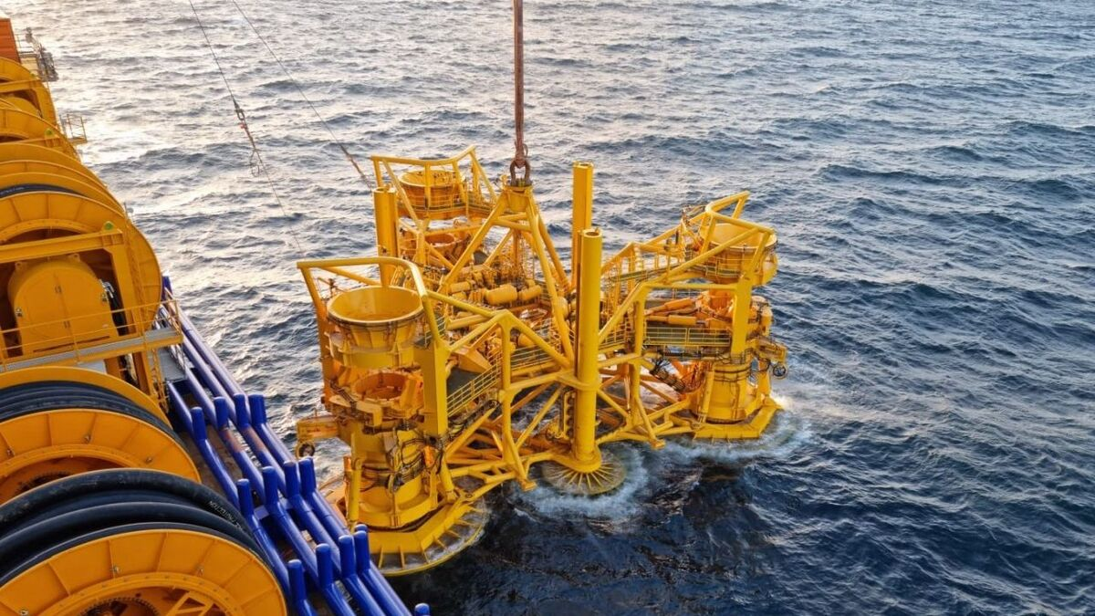 The incident on the Saint-Brieuc project resulted in the loss of hydraulic fluid from a drilling template deployed from Aeolus
