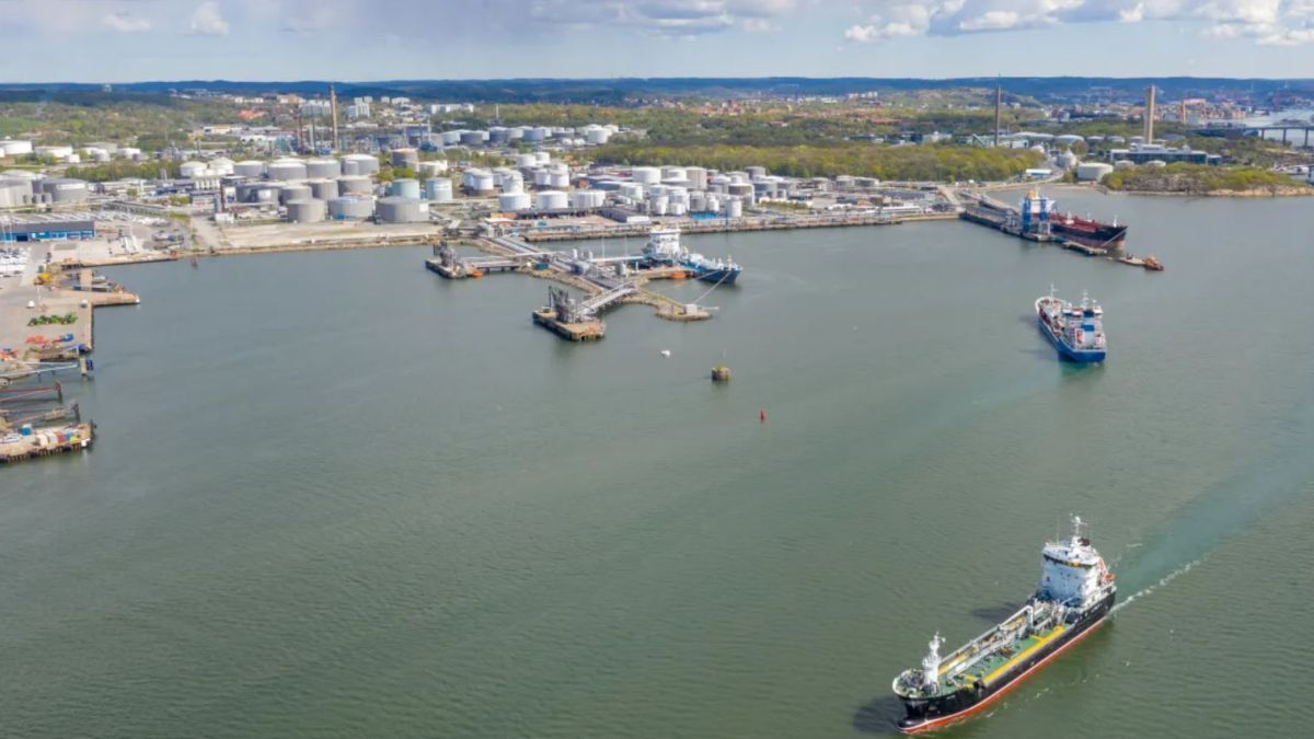Shoreside power for tankers in Gothenburg