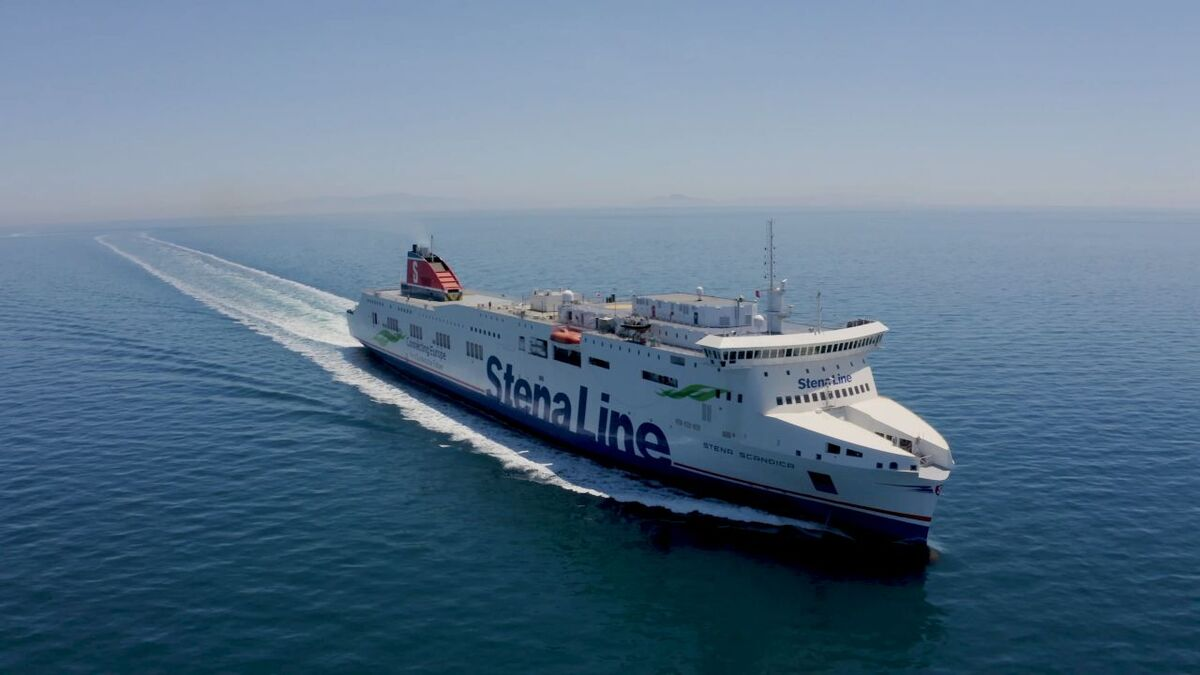 Stena Scandica will start operating on Stena Lines' route between Nynäshamn in Sweden and Ventspils in Latvia (source: Stena Line)