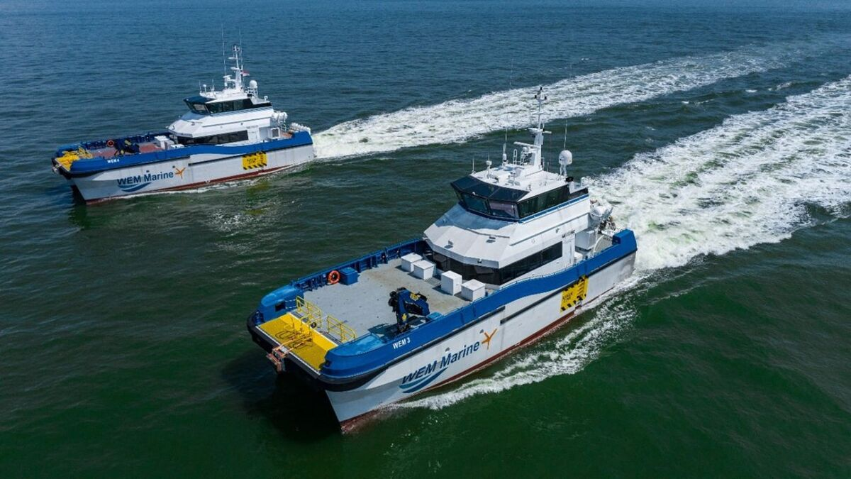 The 27-m CTVs were designed to meet the requirements of WEM, who intend to deploy them in UK and European waters