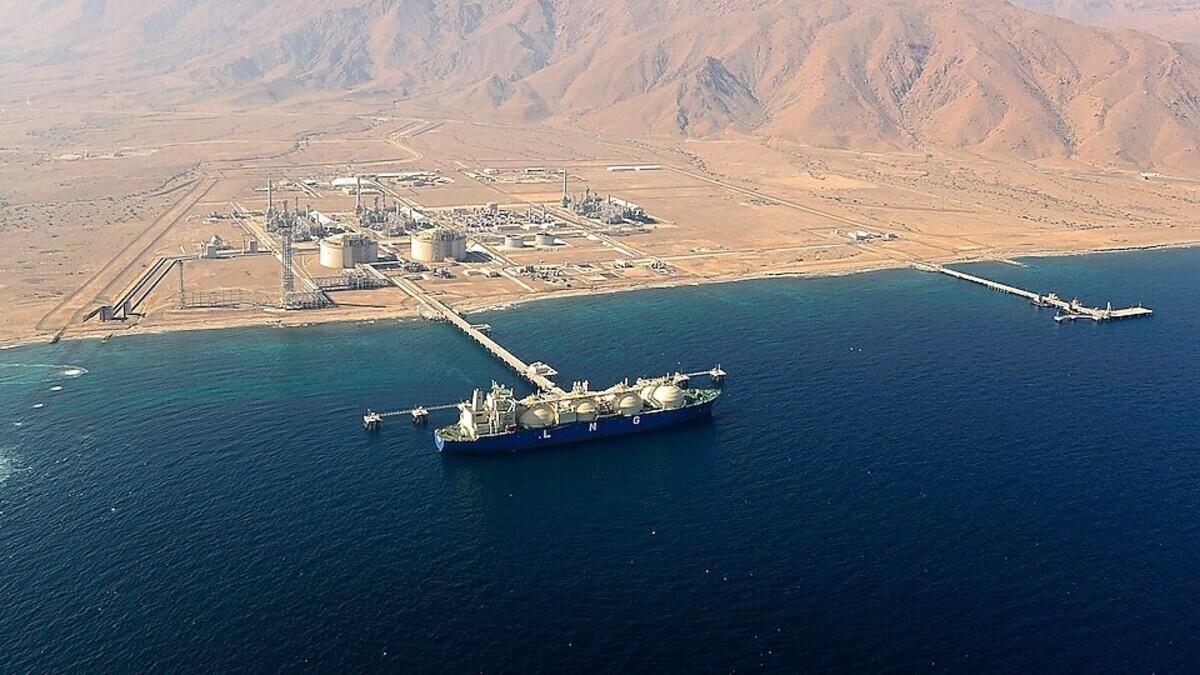 Oman LNG facility at Sur (Source: Shell)