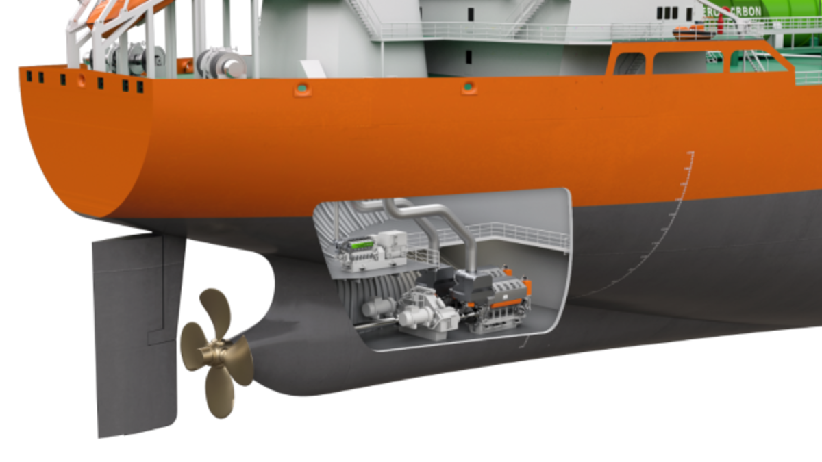 The Wartsila/RINA arrangement features a W31DF engine operating on LNG (Source: Wartsila)