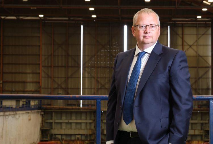 CEO John Wood at Harland & Wolff (Appledore).jpg