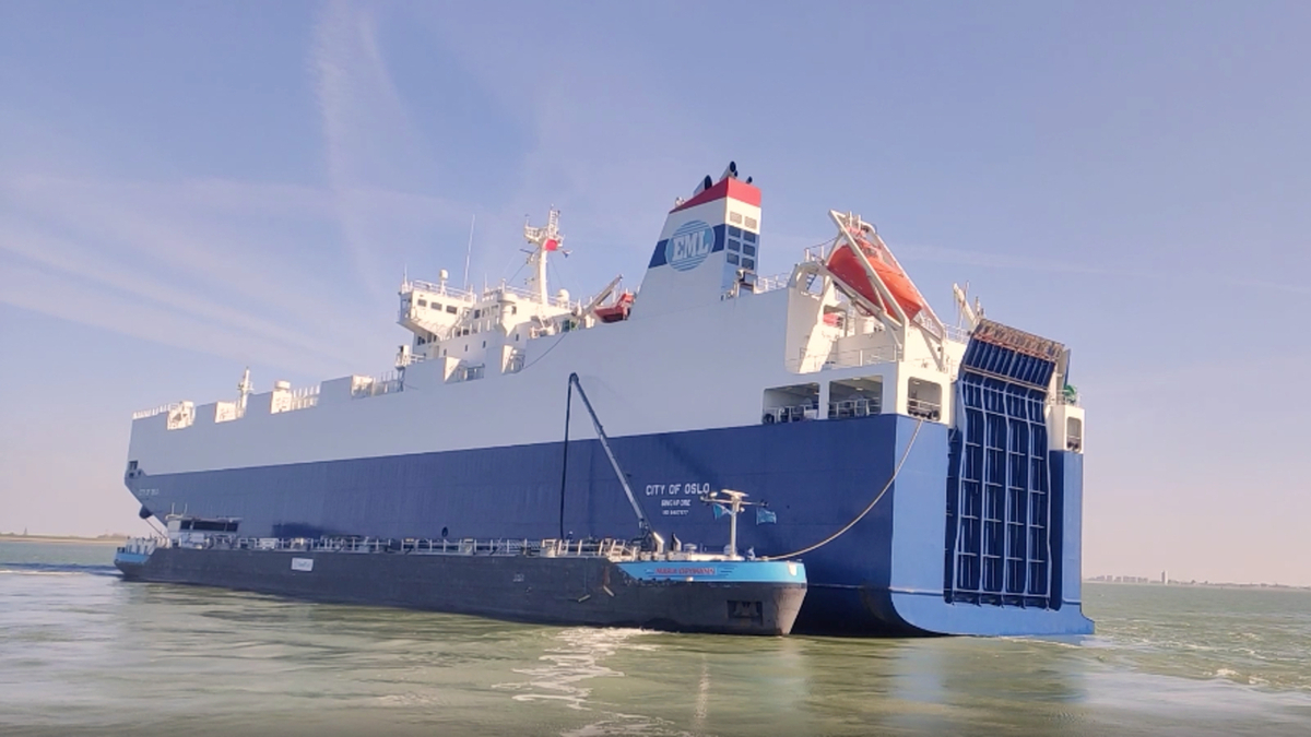 City of Oslo was first bunkered with biofuel in April at the port of Flushing, the Netherlands (source: EML)