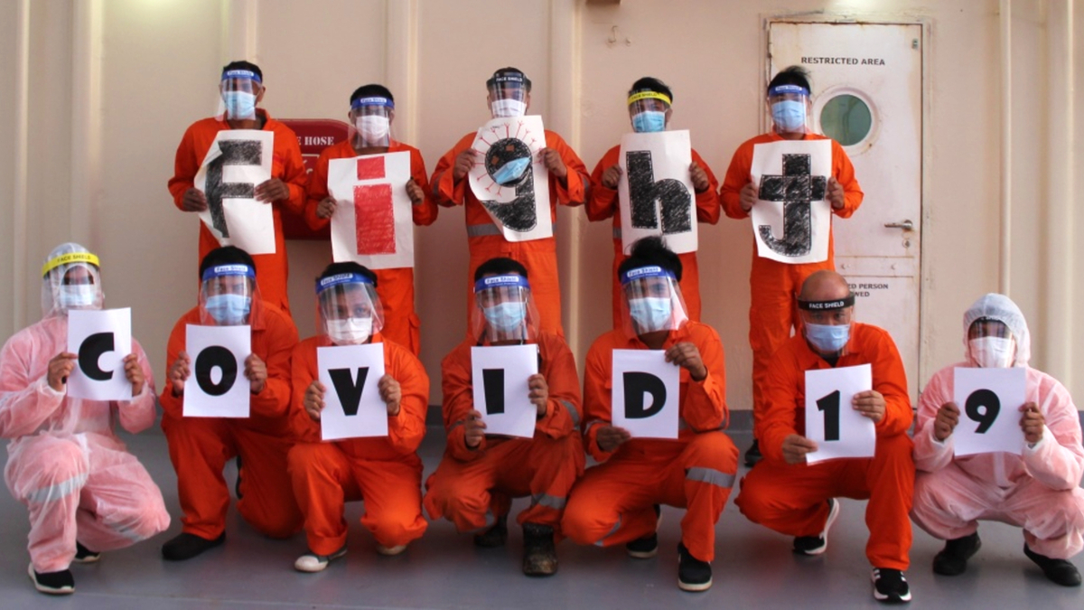 Some 900,000 crew come from developing countries with limited supplies of Covid-19 vaccines (source: ICS)